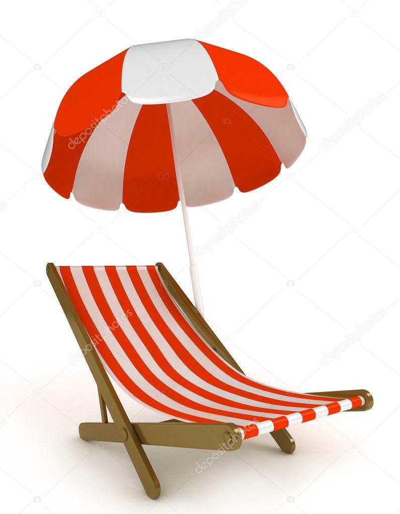 Strandkorb clipart  Strandkorb — Stockfoto © lenmdp #7600575