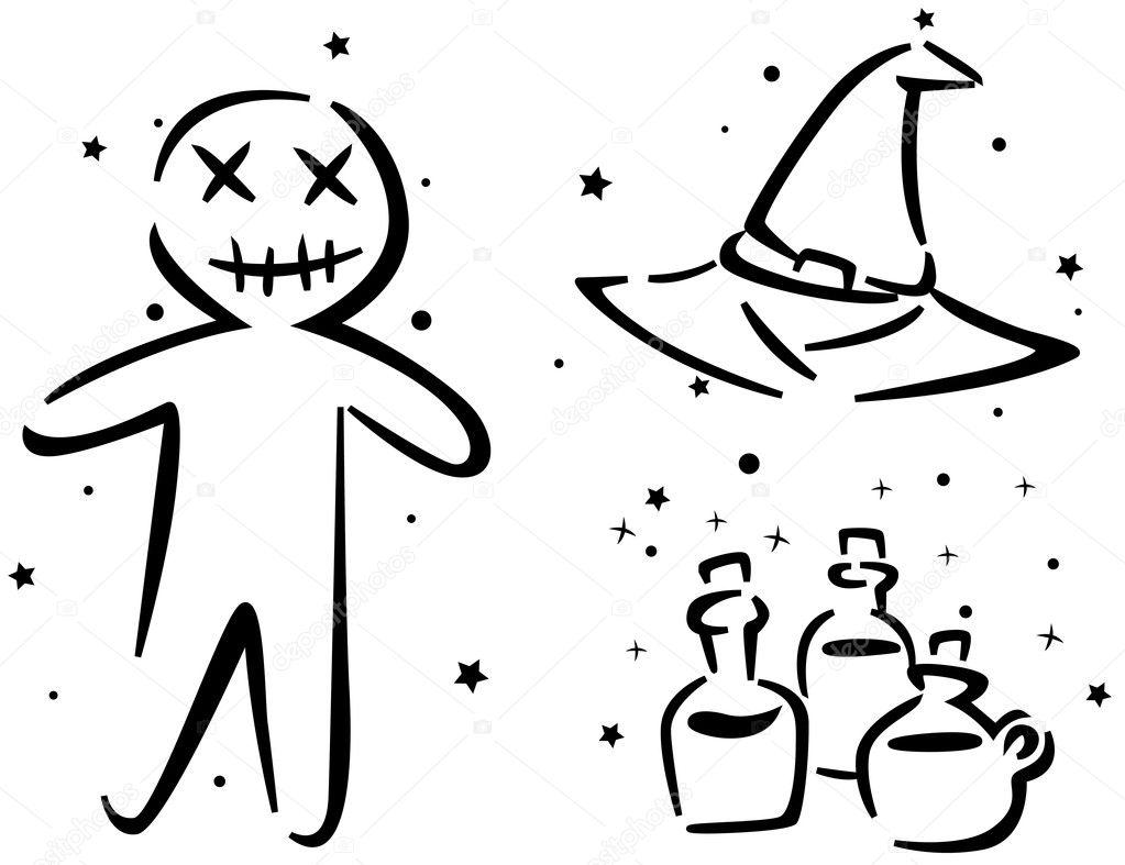 Halloween Stencil — Stock Photo © lenmdp #7600704
