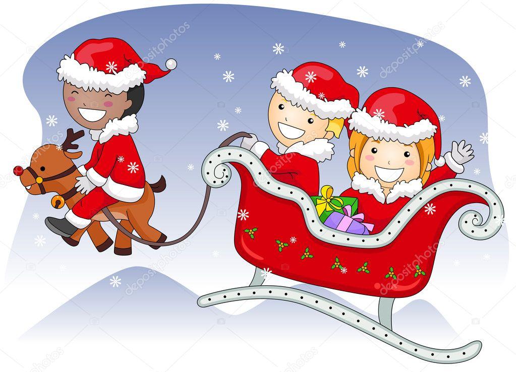 Weihnachts-Schlitten — Stockfoto © lenmdp #7601631