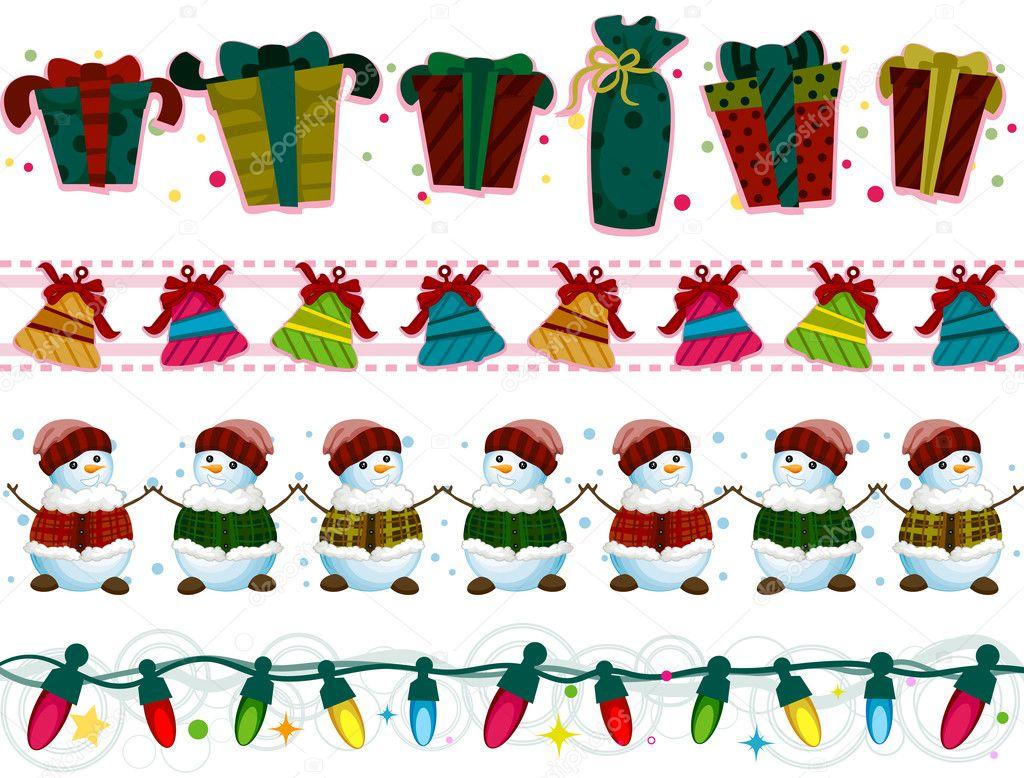 Bordas de natal stock photo lenmdp 7733388 - Cenefas de papel infantiles ...