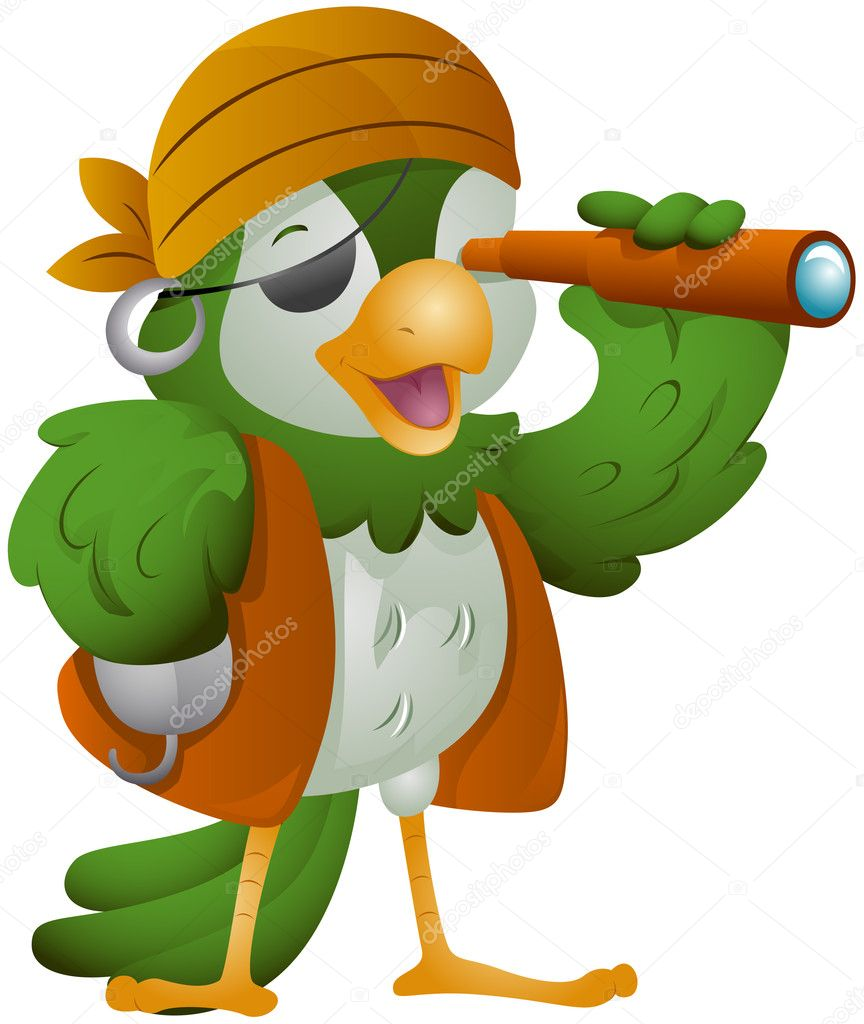 Parrot Pirate Stock Photo Lenmdp 7734938