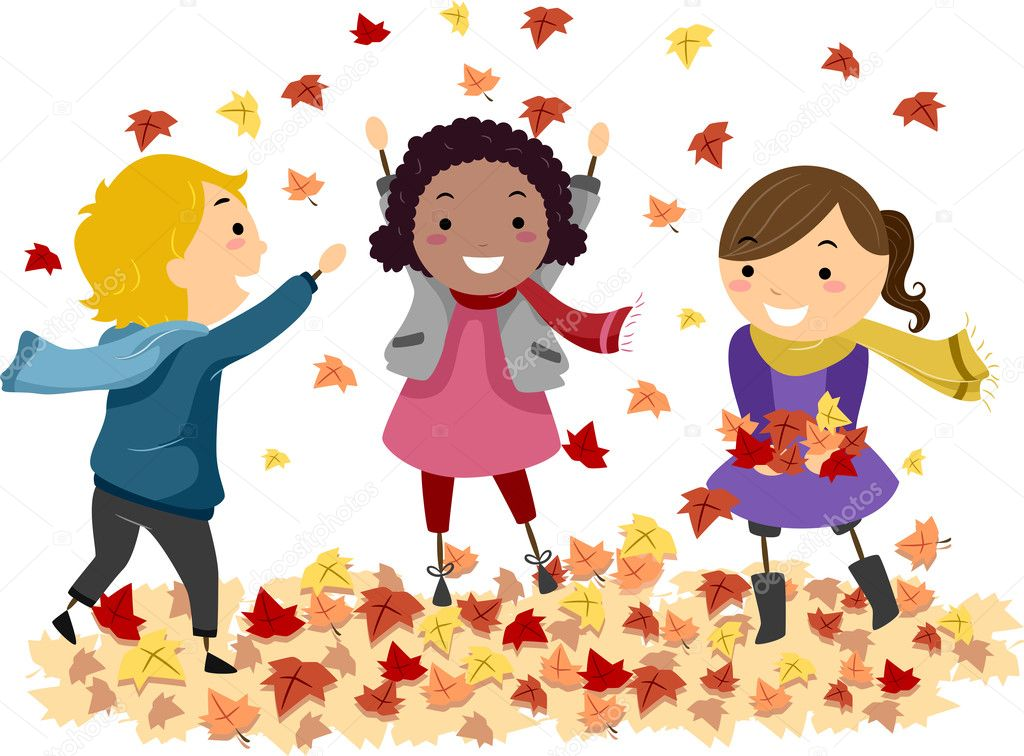 Image result for clip art children autumn