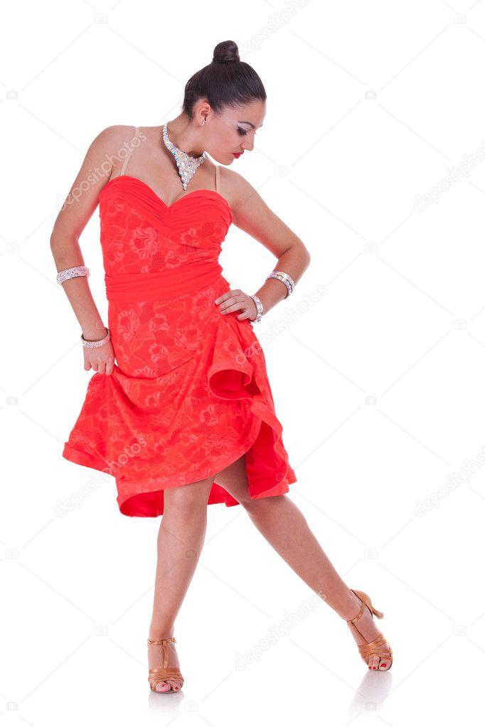 Attractive woman dancing