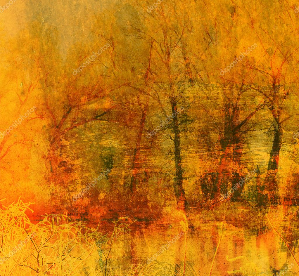 Art grunge landscape background
