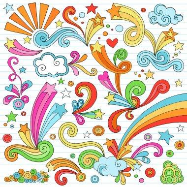 Notebook Doodles Vector Illustration Design Elements