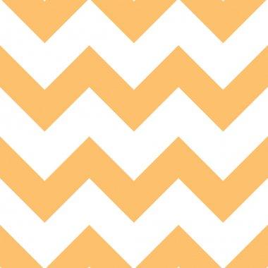 Orange Creme Chevron Pattern