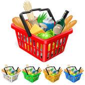 Fotografie nákupní košík s potravinami