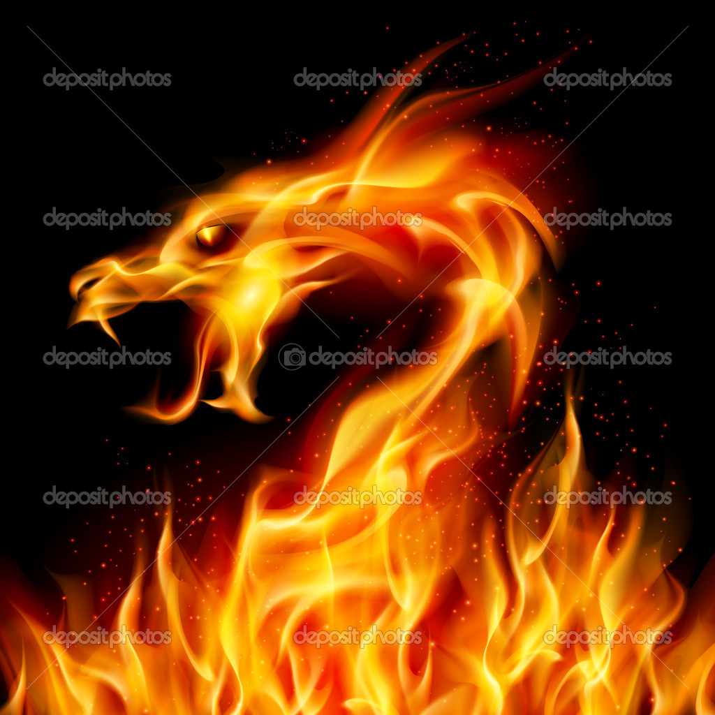 fire dragon u2014 stock vector dvargg 6763355