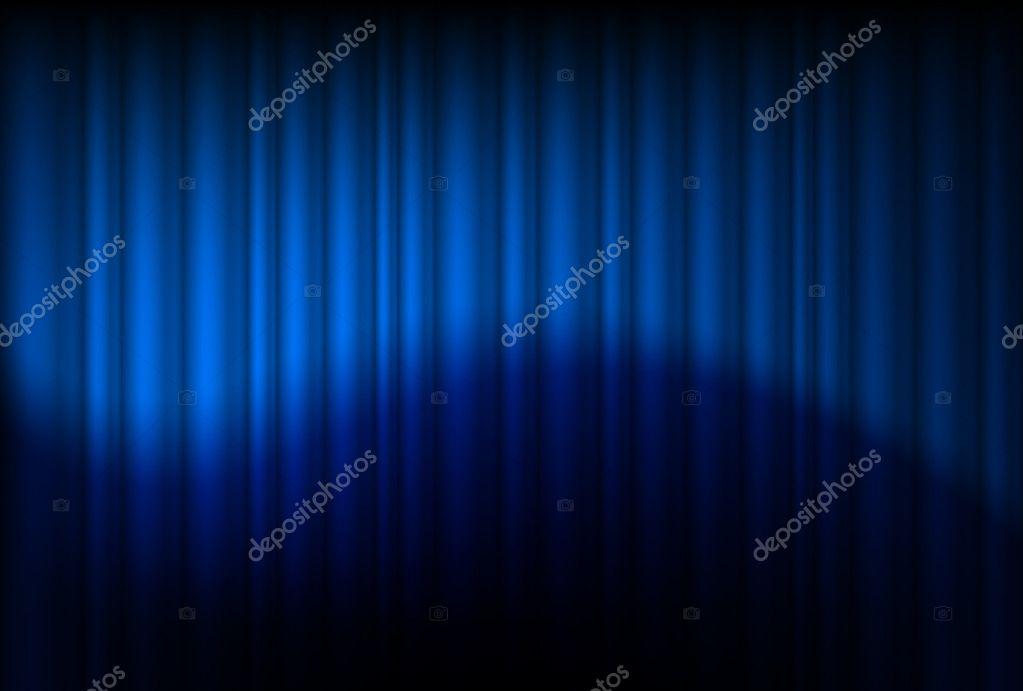 blauwe gordijnen weerspiegeld — Stok Vektör © dvargg #7944081
