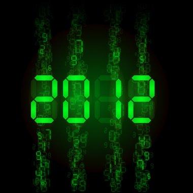 Set of digital numbers - twenty twelve