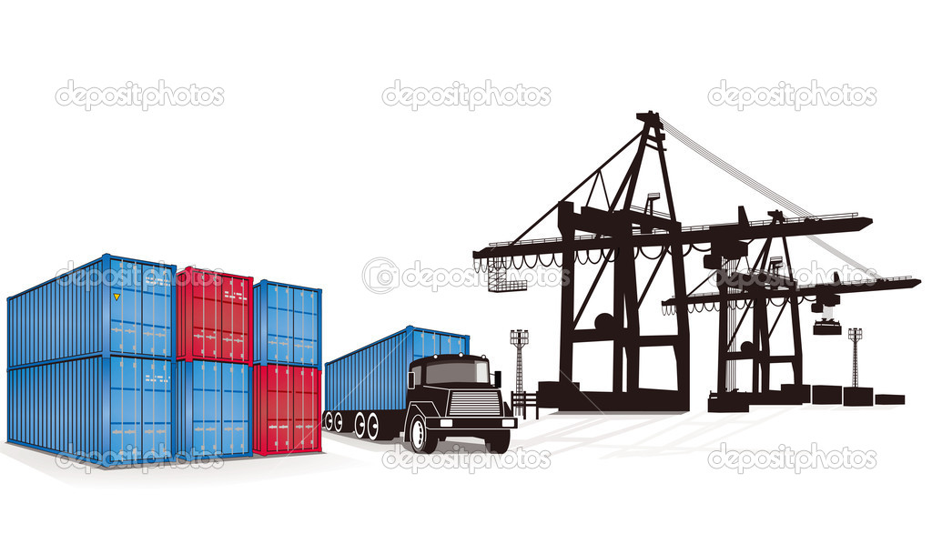 Container cargo — Stock Vector © scusi0-9 #7692643