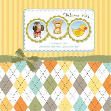 Greeting card with animals