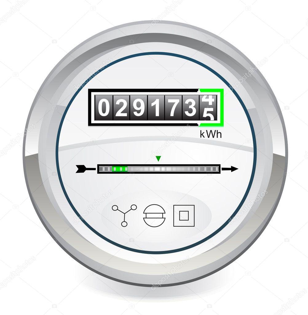 Power Meter Icon : Energy meter — stock vector leonardo