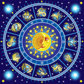 Fotografie Horoscope circle