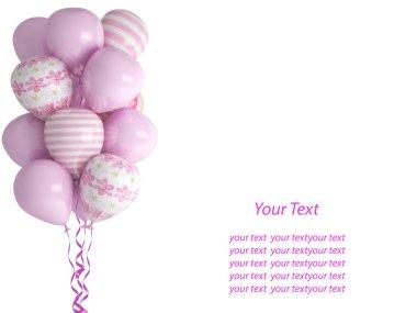 Happy birthday balloons isolated on white background. Celebratio