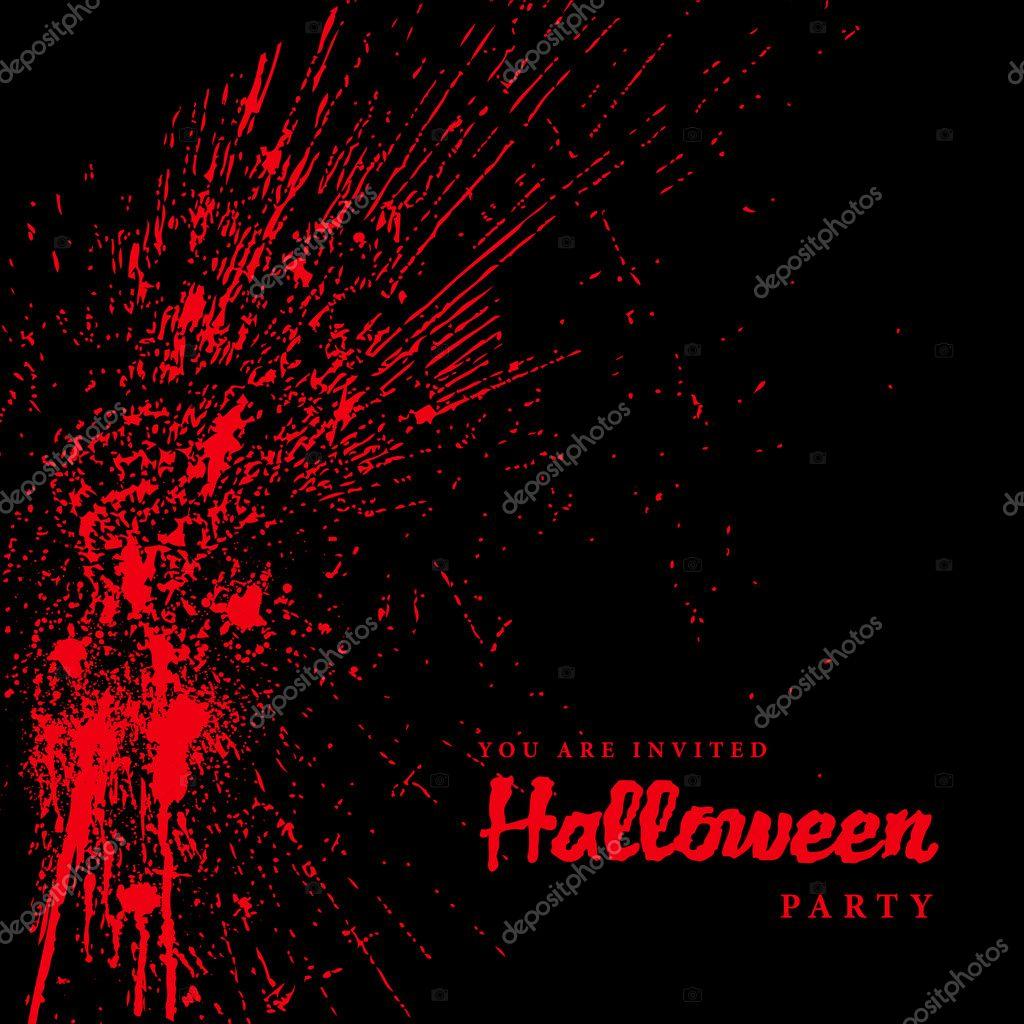 Vector Blood Spatter Halloween Background