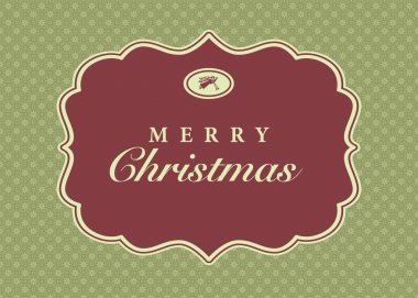 Vector Christmas Frame and Ornate Background