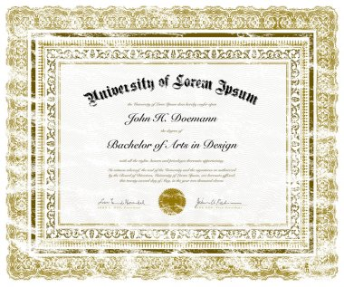 Vector Distressed Diploma