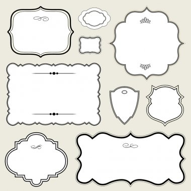 Vector Ornate Rounded Frame Set