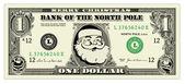 Vektor Santa One Dollar Bill