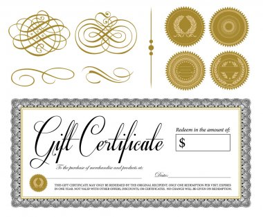 Vector Ornate Vintage Certificate and Ornaments