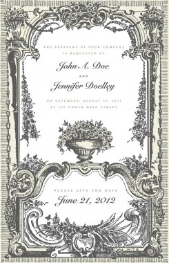 Vector Victorian Two Part Wedding Frame