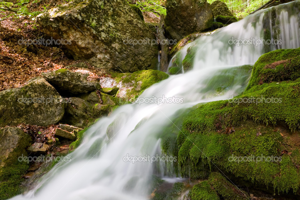 Nice Waterfall In Autumn Forest