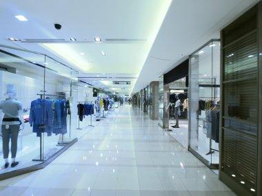 Showcase and long walkway