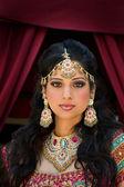 Fotografie Porträt einer schönen indischen Braut