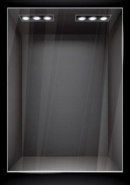 Vertical black storefront