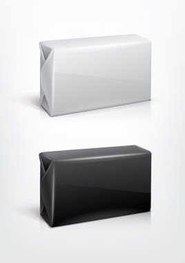 White and black wrap box package