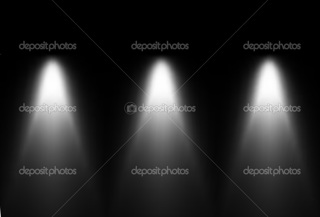 Three black and white light source. Vector — Stock Vector ...