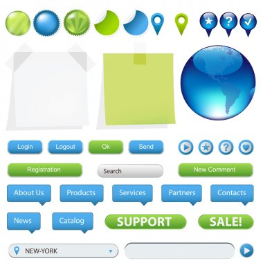 Collection Of Website And GPS Navigation Elements