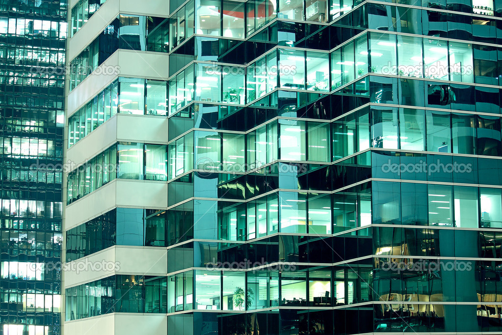 Seamless illustration resembling illuminated windows in a tall b