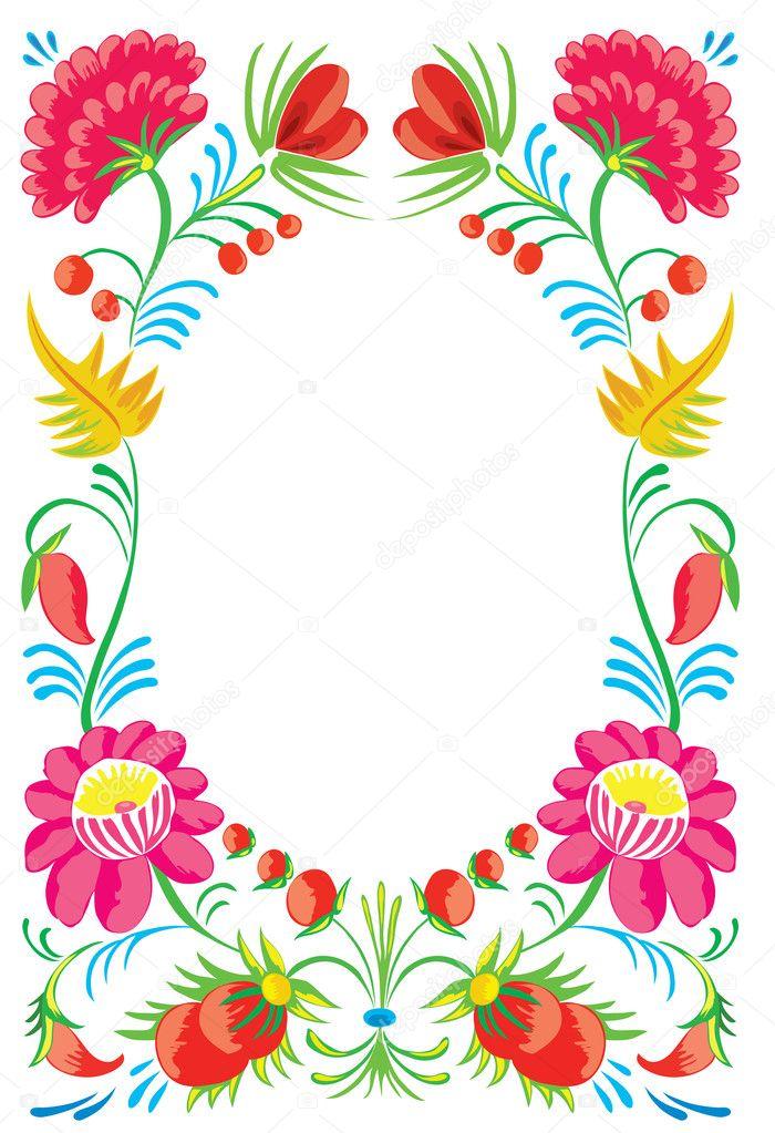 Flower ornament. Design of a celebratory card