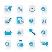 Organizátor, komunikace a připojení ikony