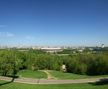 Panoramic view of Moscow (Russia) from Sparrow Hills