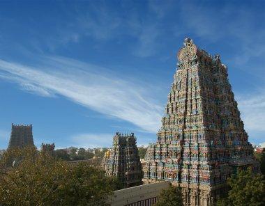 Meenakshi hindu temple in Madurai, South India