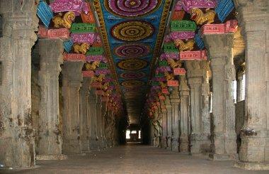 Inside of Meenakshi hindu temple in Madurai, South India