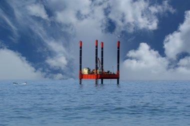 Oil Rig (Platform)-Industrial Equipment