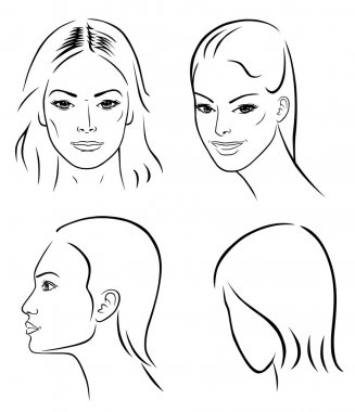 Four woman outline faces