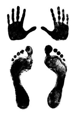 Footprints and handprints