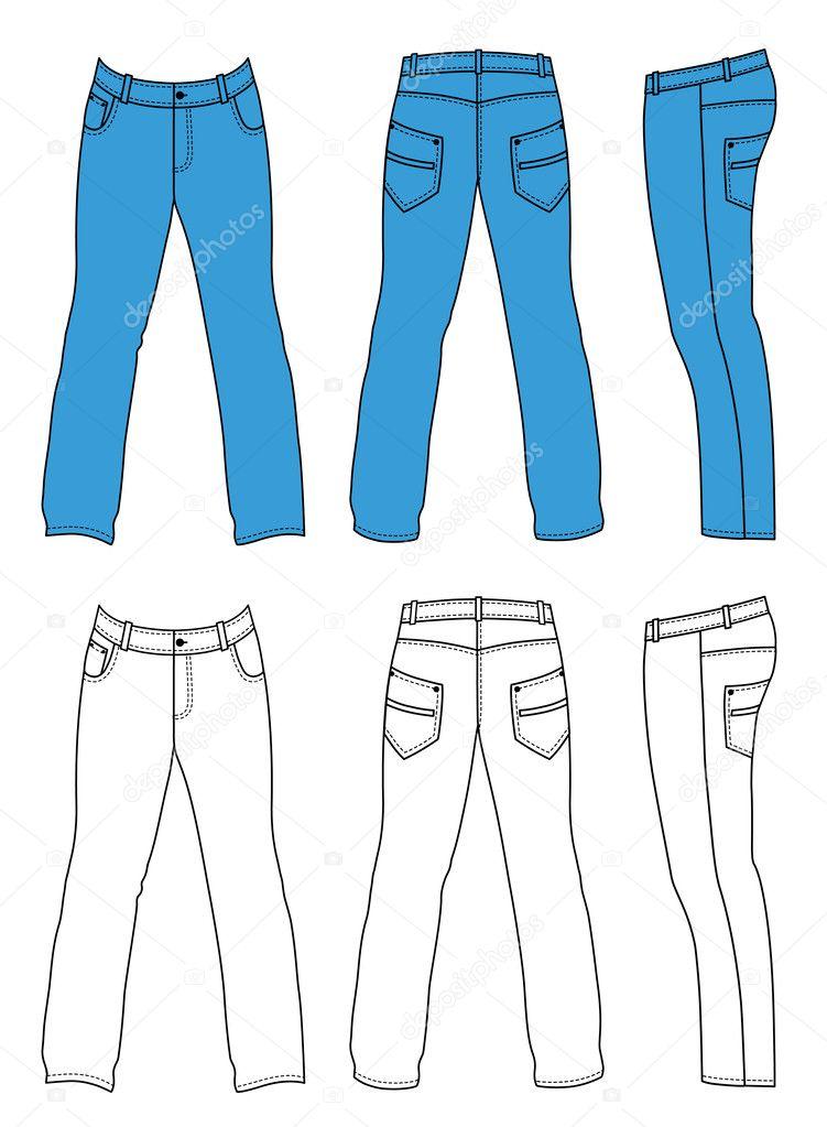 b75120bf2 Contorno pantalones ilustración vectorial aislado en blanco. Eps8 archivo  disponible. — Vector de arlatis