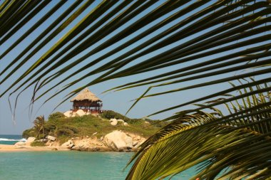 Hut On A Caribbean Beach. Colombia.