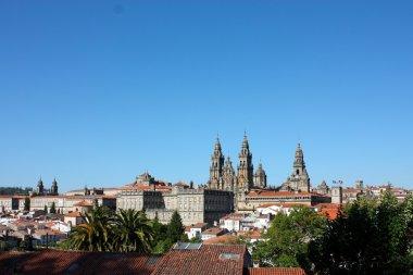Cityscape of Santiago De Compostela.