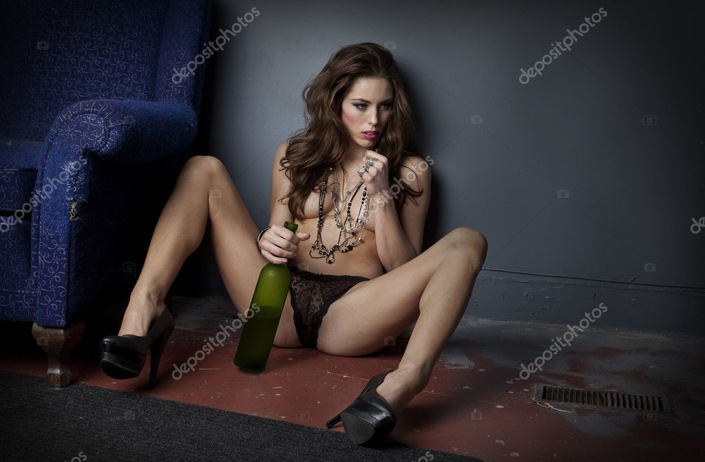 Sexy Depressed Alcoholic Woman