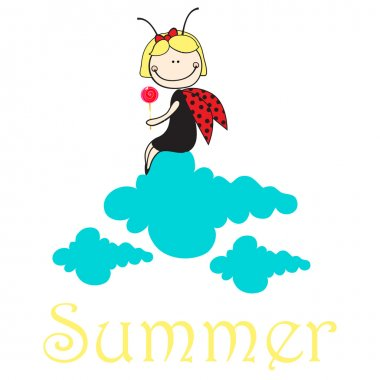 Cute ladybug girl