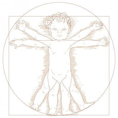 Vitruvian child