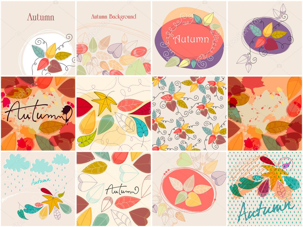 Cute autumn illustrations