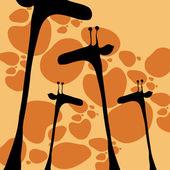 Fotografia Giraffe stile carino disegnati a mano